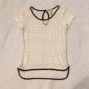 "🌞 2 for $20 Anthropology ""Papercrane"" Lace Top"